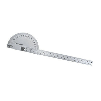 Stainless Steel RULER & GAUGE Protractor Square Divider Drill Point 150mm