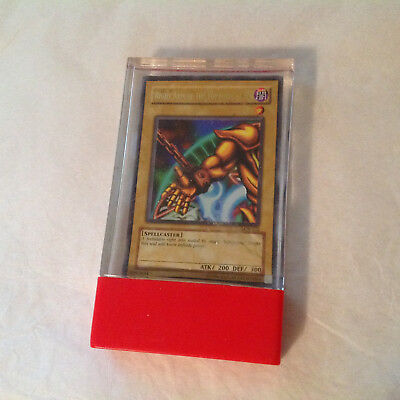 Yu Gi Oh Card Spellcaster LOB-122 Right Arm Of The Forbidden One 1996 W/ Case