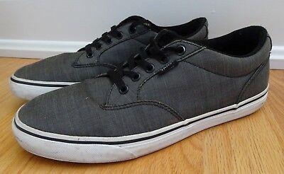 cbbc4f49283722 VANS Size 10 Canvas Skateboard Shoes Sneakers Off the Wall Mens Low Gray