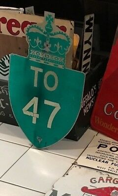 VERY RARE VINTAGE KINGS HIGHWAY ONTARIO SIGN TO ROUTE 47 greater Toronto Area