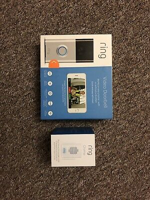 Ring Wi-fi Enabled Video Doorbell in Black Or Silver. Ring Chime Sold Seperatly
