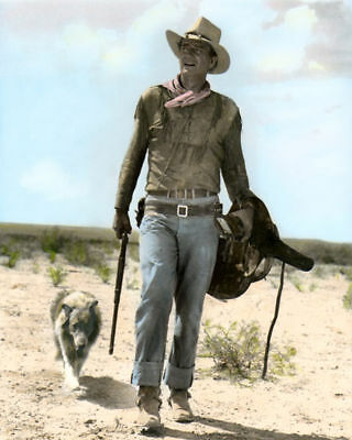 "John Wayne Hondo 1953 Hollywood Actor & Movie Star 8X10"" Hand Color Tinted Photo"