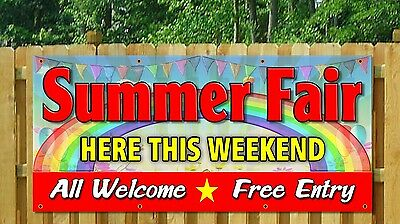 spring fair summer fete festival OUTDOOR BANNER BANNERS SIGNS SIGN ADVERT