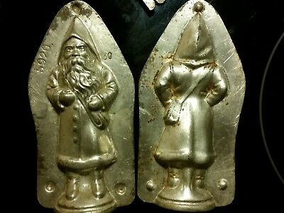 Kutzscher 1920 Santa Claus Nikolaus Chocolate Mold Mould Vintage Antique