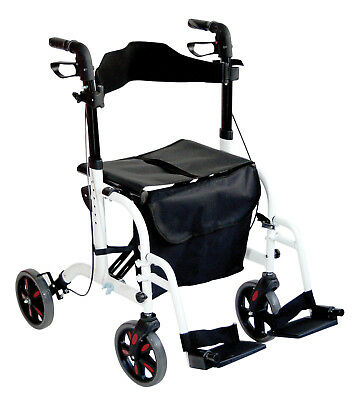 Aidapt Duo Deluxe Rollator and Transit Chair in One - Various Colours