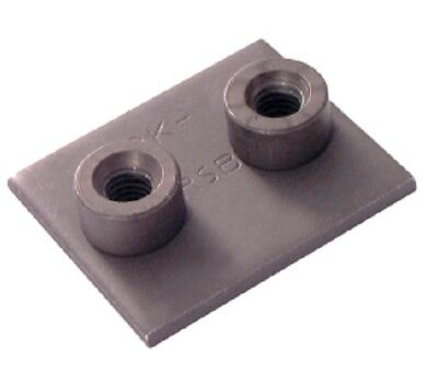 Tube Clamp Extended Weld Screw Base Plate Group 2 Size Pk4