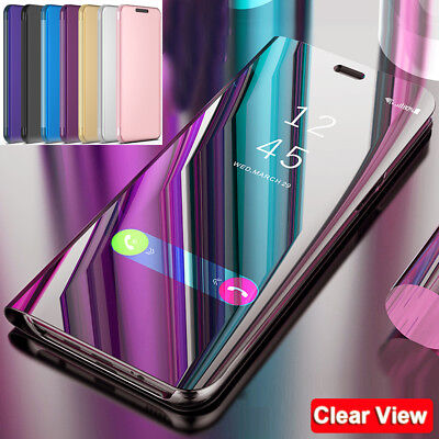 For Samsung Galaxy A9 2018/A6s Clear View Case 360° Full Protective Mirror Cover