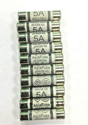 5 Amp Fuses Household Plug Fuses Cartridge 10 Pack