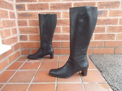 19626a9d4afe STUNNING DUO CADIZ Black Suede Boots Size 5 r Calf 47cm or 18.5 ...