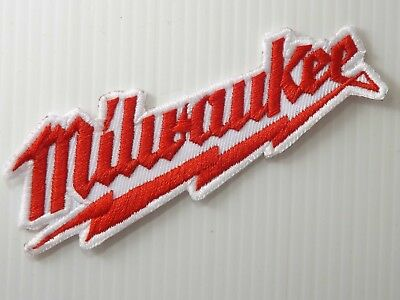 """4.0""""x1PC MILWAUKEE TOOL EMBROIDERED IRON ON SEW PATCH CAP SHIRT"""
