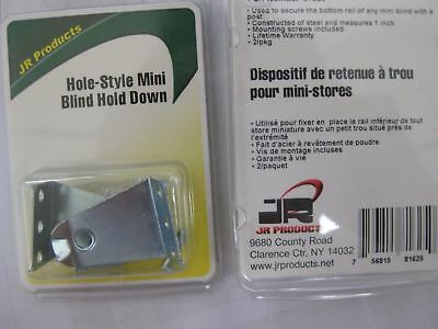 JR Products 81625 White Metal Mini Blind Hold Down Bracket New RV Parts Direct T