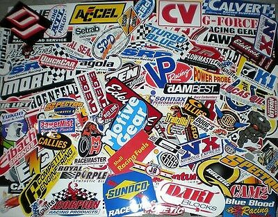 100+ lot of new race car decals stickers--NHRA--chevy-ford-mopar racing