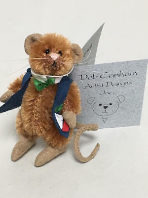 "Artist Deb Canham Mini Mices Miniature Mouse, ""cedrick"" 793/1200"