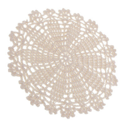 """7"""" round cotton crochet lace doily doilies dinning table pad coaster cup mat"""