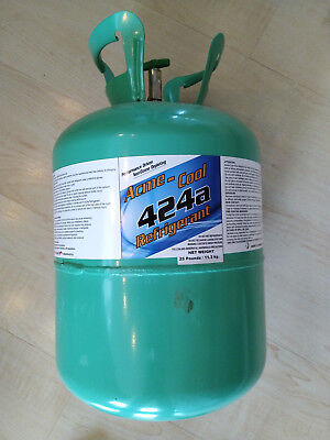 R-424A Refrigerant 25 LB Cylinder - Partially Used, Half a tank, R-22 Compatible