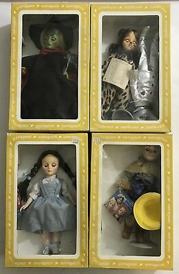 Set of 4 Effanbee Wizard of Oz Dolls Dorothy Tin Man Lion Scarecrow Witch West