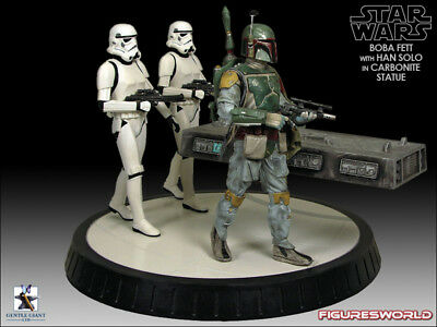 Gentle Giant Star Wars Boba Fett With Han Solo In Carbonite New Sealed Rare #3