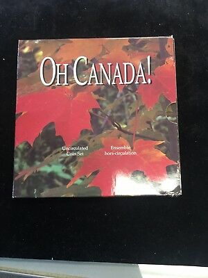 1997 Oh Canada Uncirculated Coin Set! Specimen Finish With The Flying Loon