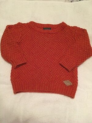 Next 9-12 Months Orange Knitted Jumper