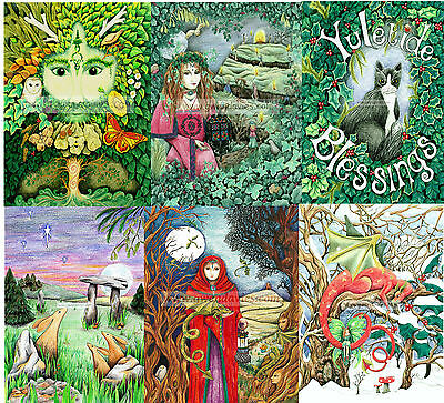 24 TWENTY FOUR  mixed Christmas cards value pack greetings Pagan Yule UK gothic