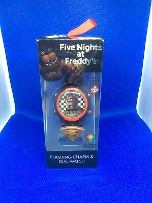 Five Nights At Freddy's Flashing Charm & Dial Lcd Watch New