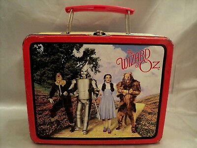 Wizard of Oz 1998 Metal Tin Lunchbox with Plastic Red Handle Series #1 A.S.C.