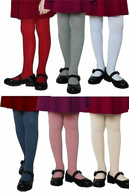 Girls Winter Opaque Tights 120 Denier Warm Age 1 - 10 Yrs Various Colors