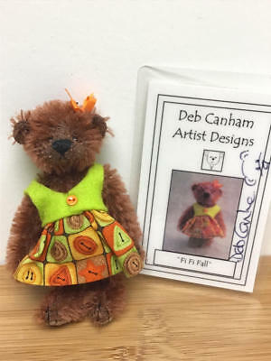 "Deb Canham, 2011 Fall 3.5"" Teddy Bear - Fi Fi Fall  (Le#8/50)"