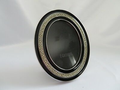 Black , Silver and Rhinestone Oval Picture Frame