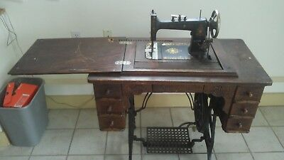 PRINCESS BEAVER 7 drawer TREADLE SEWING MACHINE 1900'S