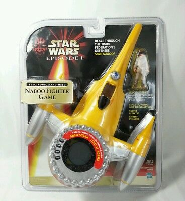 Star Wars Episode I TPM Anakin Action Figure NABOO FIGHTER GAME Hasbro 1998 NEW