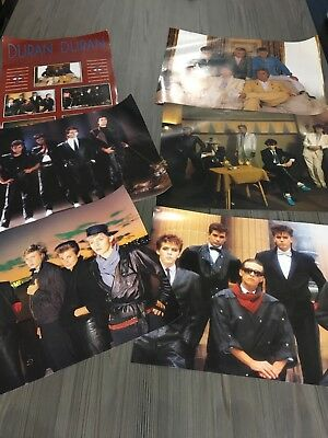 Duran Duran 3 sets of posters. total 15 images. originals from1980s. A3 size.