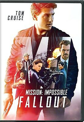 Mission Impossible Fallout (DVD 2018) - New Sealed! Free Ship!