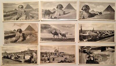 Rare Lot 8 Anciennes Cartes Postales Special Egypt By Lehnert & Landrock
