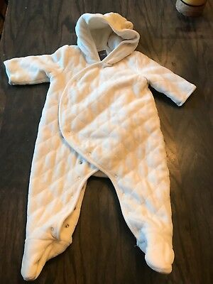 f2f055c355c3 ABSORBA BABY BOY S Snow Suit Blue Fleece One Piece Quilted Winter ...