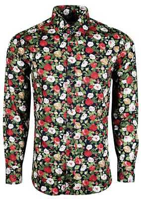 Mens Floral Pattern Shirt For Party Wedding Party Formal Casual £18.99 (452
