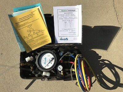 Midwest Instruments 845-5 Back Flow Test Kit In Case  Free Ship To Lower Usa!