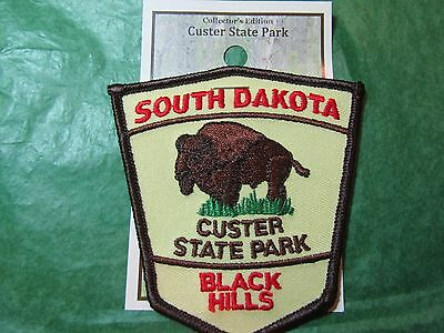 Custer State Park Buffalo Embroidered Patch Black Hills South Dakota-P21