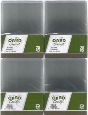 4 x 25 Card Concept Regular Top Loaders! For Pokemon Magic the Gathering etc...
