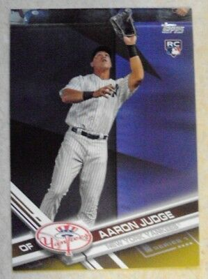 Aaron Judge 2017 Topps Series 1 Gold Border Rookie Rc Ssp 0328/2017 Rare! #287
