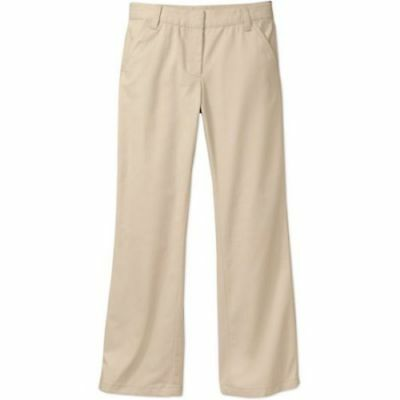 New George Girls' School Uniform Flat Front Pants, Warm Beige Size 16