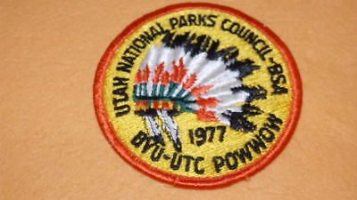Utah National Parks Council 1977 BYU Merit Badge Pow Wow Patch