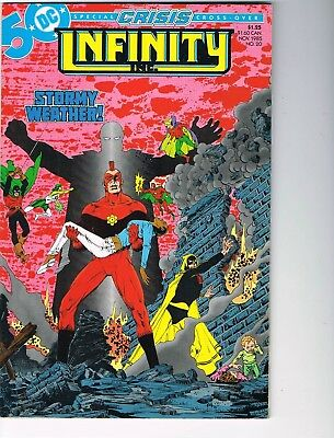 Infinity Inc  # 20  FN/VF  7.0  Crisis Crossover
