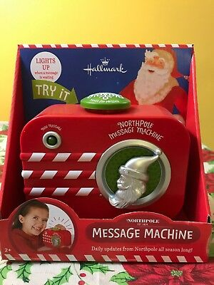 Hallmark Northpole Message Machine, Daily Updates From The Northpole. New