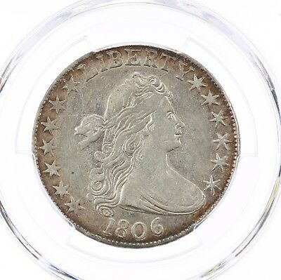 1806 Draped Bust 50C Pointed 6 No Stem PCGS Certified XF Detail Tooled Early US