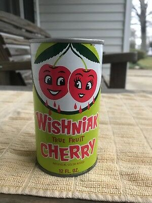 COTTON CLUB WISHNIAK CHERRY No Bar Code SS Soda Pop can Cleveland OH VERY NICE!