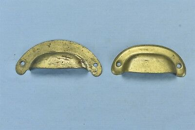 Antique Vintage MIXED LOT 2 BRASS WASH CUP DRAWER BIN HANDLE PULL HARDWARE 05934