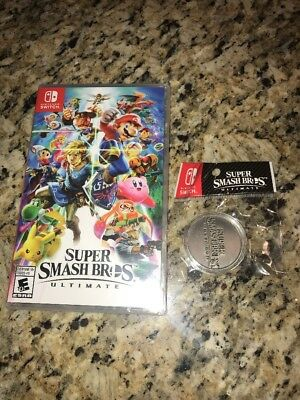 New Sealed Super Smash Bros Ultimate - Nintendo Switch - Bonus Coin