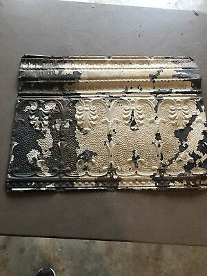 "Tin Antique Architectural Ceiling Tile 24 1/2"" x 18 1/2"""