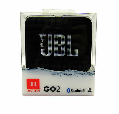JBL GO 2 Portable Wireless Waterproof  Noise-Cancelling Speaker,  Black *GO2BLK